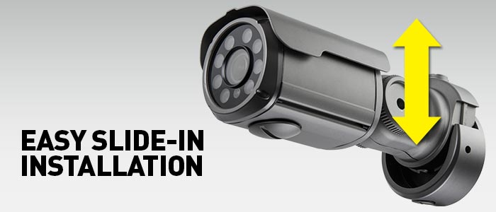 Easy slide-in hassle-free camera installation