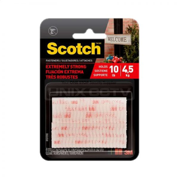 """3M Scotch Extreme Fasteners Holds Up To 10lbs Indoor Outdoor 1/"""" x 3/"""" Black"""