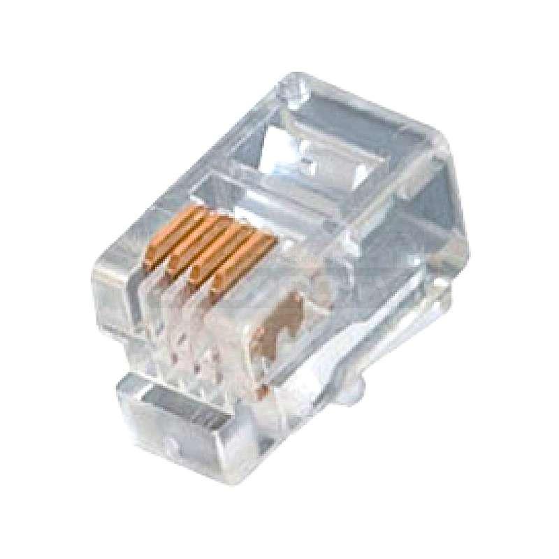 Rj9 Headset Connector 100 Pack Unix Cctv