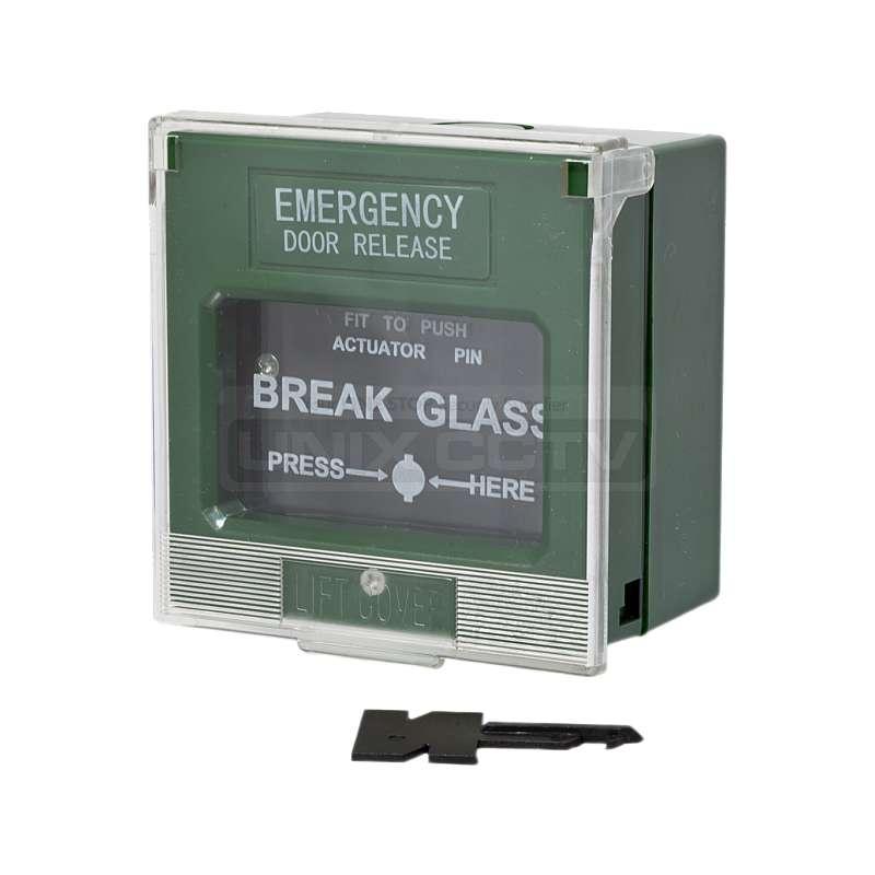 Break Glass Emergency Door Release Unix Cctv