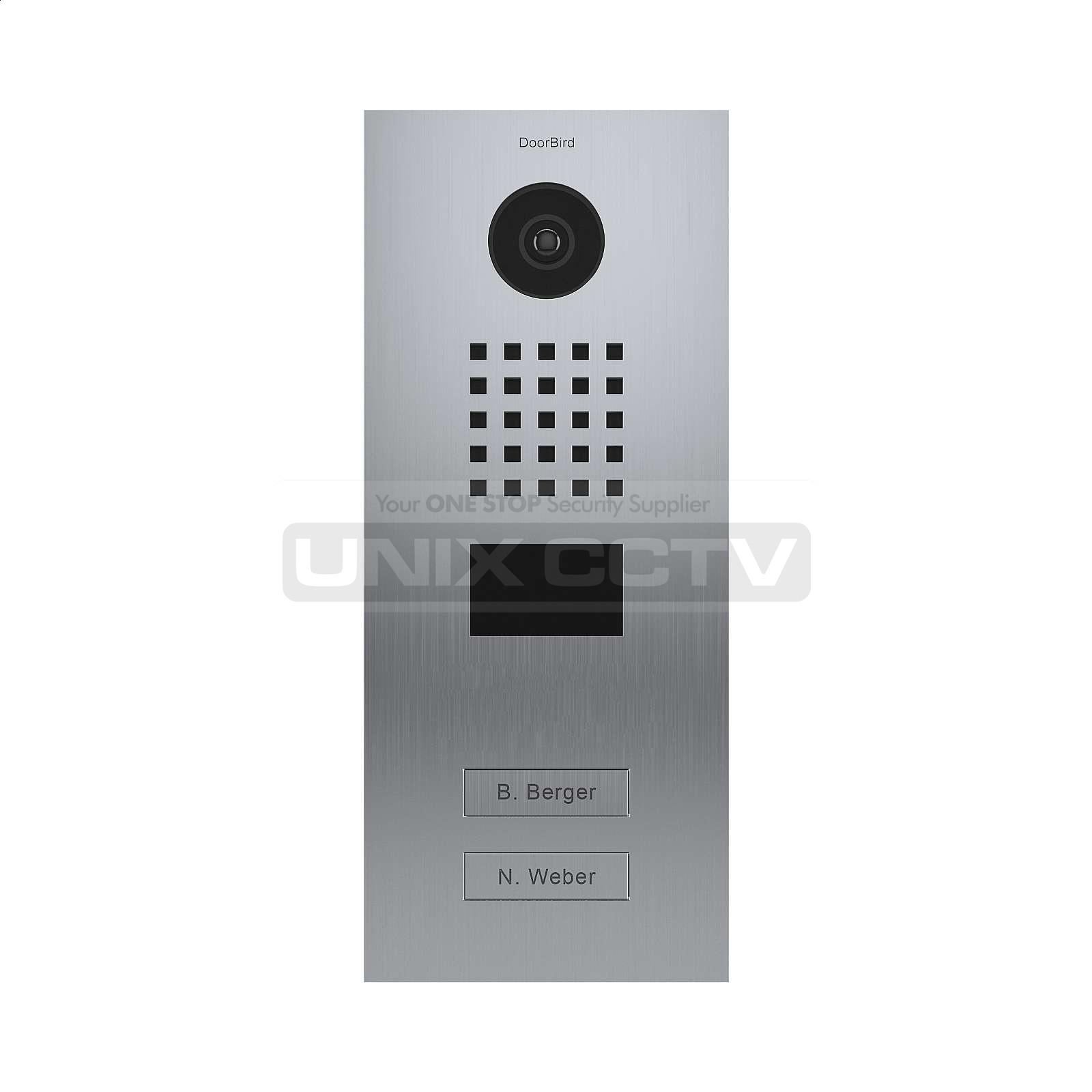 DoorBird | IP Video Door Station D2102V, Brushed Stainless-Steel, 2