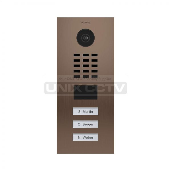 DoorBird IP Video Door Station D2103V / Brushed Stainless-Steel / 3 backlit  Call buttons