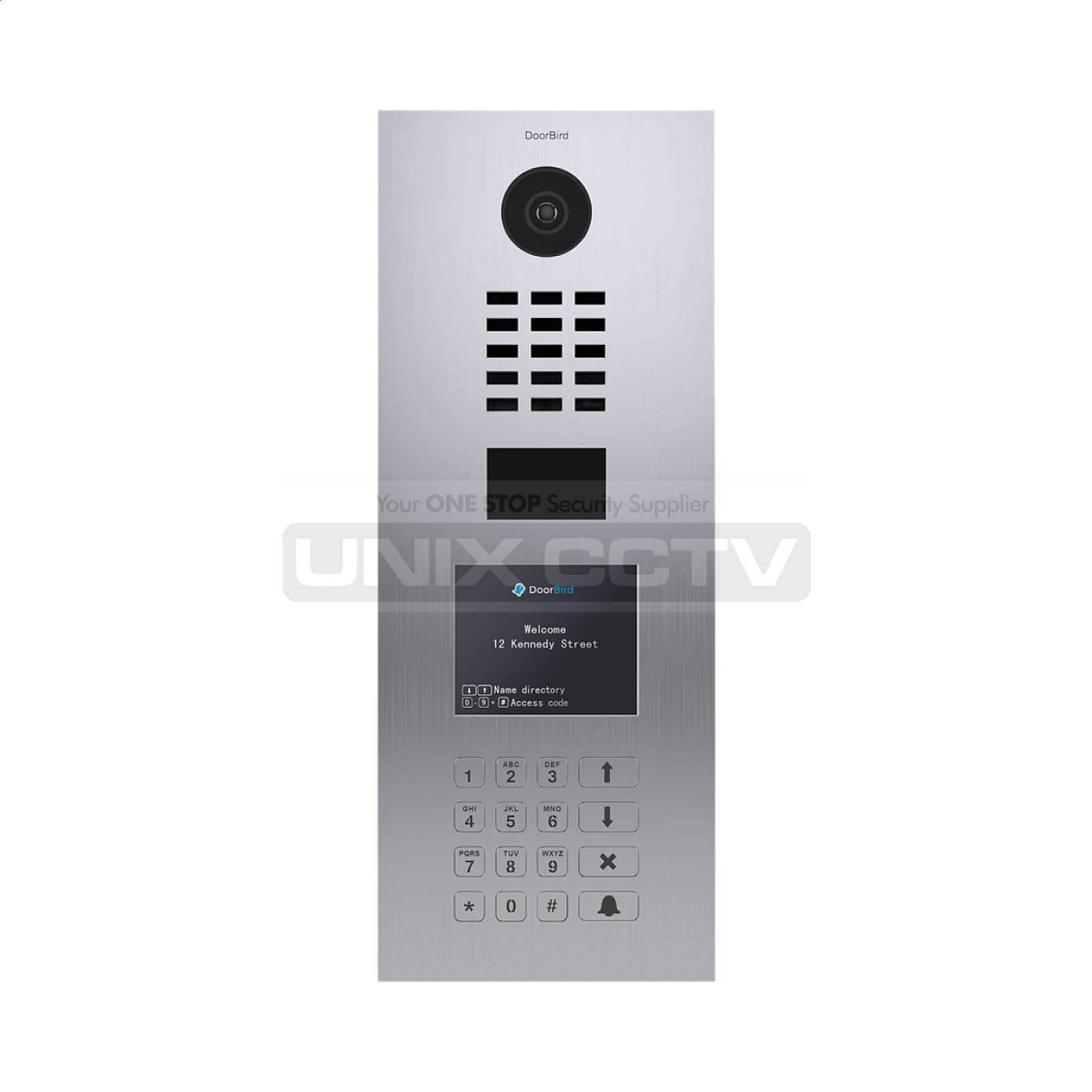 DoorBird | IP Video Door Station D21DKV, Brushed Stainless-Steel,  Display&Keypad Module, Vertical